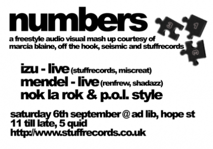 Sat 6th Sep 03: Izu & Mendle Live @ Ad Lib Glasgow