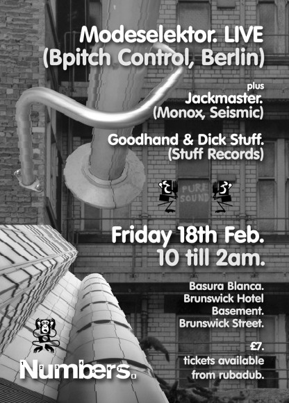 Fri 18th Feb 2005: Modeselektor (B-Pitch) @ Basura Blanca / Brunswick Hotel, Glasgow