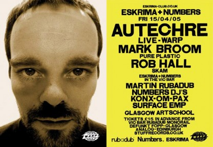 April 05: Autechre, Mark Broom, Rob Hall @ Glasgow School Of Art, Glasgow
