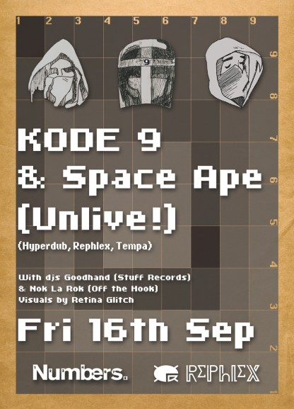 Fri 16 Jul 05: Kode9 and The Space Ape @ Basura Blanca, Glasgow