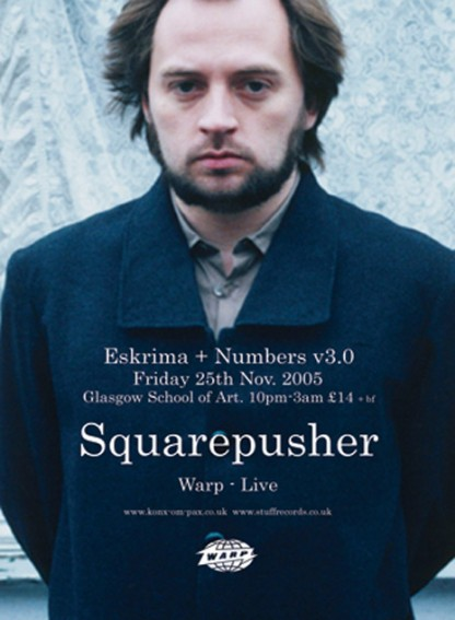 Fri 25th Nov 05: Squarepusher, Cassetteboy, Luke Vibert, DJ Rephlex Records @ Glasgow School Of Art