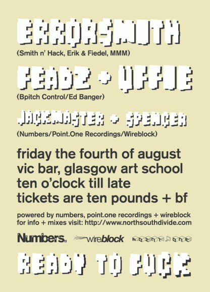 Aug 06: Uffie, Feadz, Errorsmith @ Glasgow School Of Art
