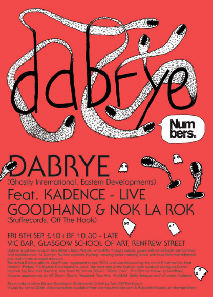 Sept 06: Dabrye & Kadence @ Glasgow School Of Art
