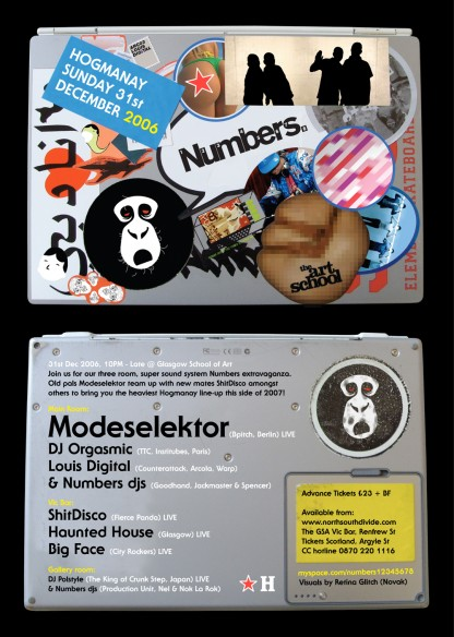 NYE 2006: Modeselektor, DJ Orgasmic, Louis Digital & more @ Art School, Glasgow
