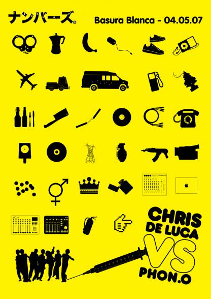 Fri 4 May 2007: Chris De Luca vs Phon.O @ Basura Blanca / Brunswick Hotel, Glasgow