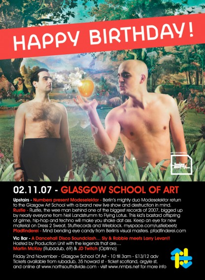 Fri 2 Nov 2007: Modeselektor - Live & Rustie - Live @ Glasgow School of Art
