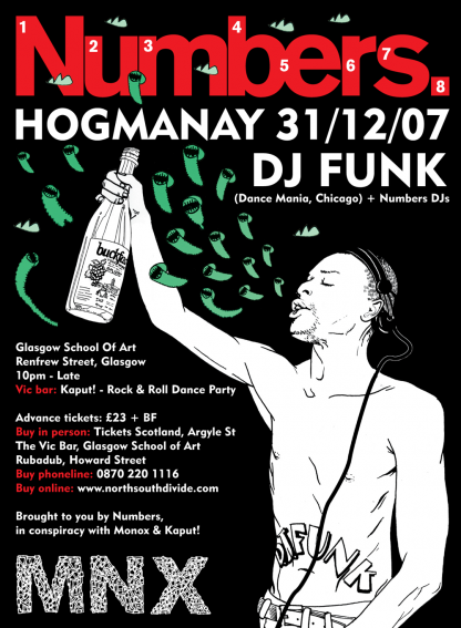 Hogmanay / NYE 2007-08: DJ Funk @ Glasgow School of Art (with Monox)
