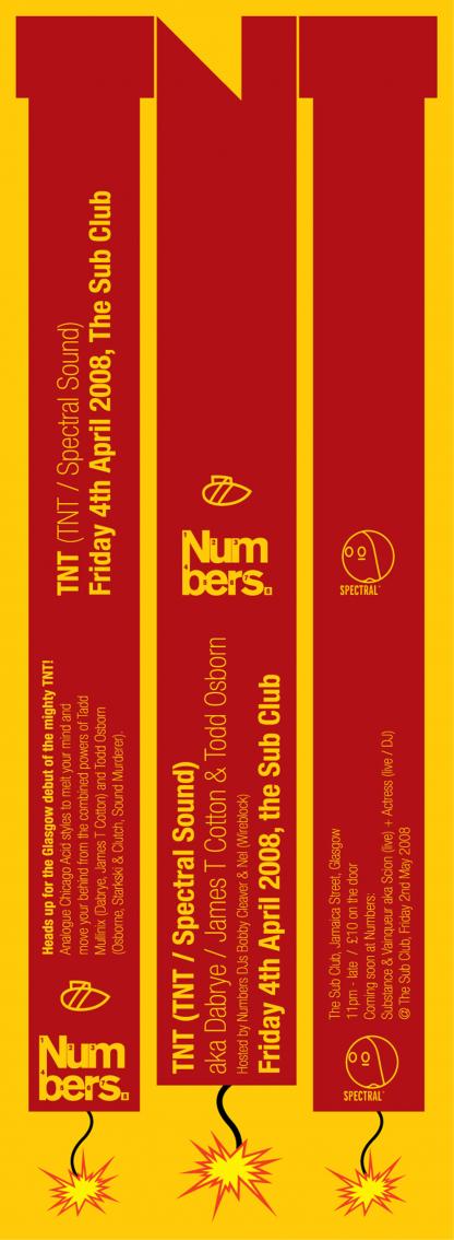 TNT (Aka Dabrye & Todd Osbourne) @ the Sub Club - Friday 4th April 08