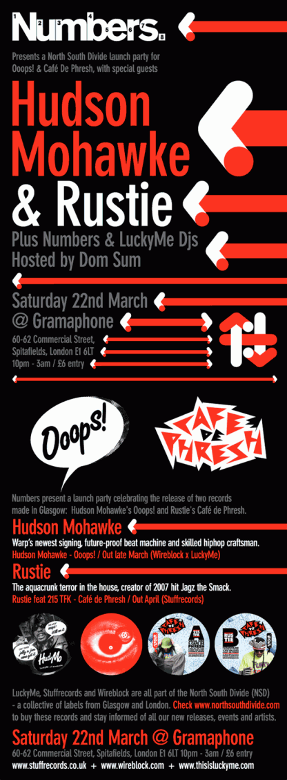 Hudson Mohawke & Rustie - Ooops & Cafe De Phresh launch party in London