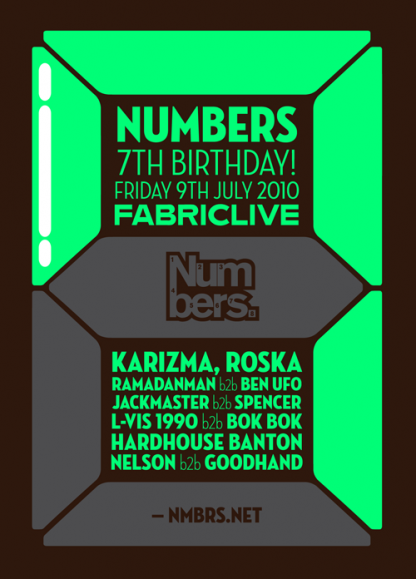 Fri 9 Jul 2010: Numbers 7th Birthday Pt. 2 @ Fabric, London