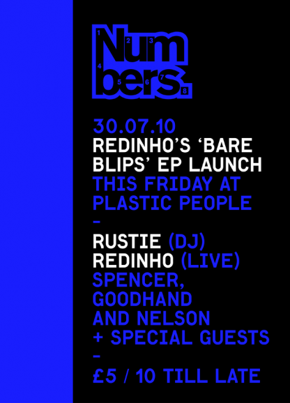 THIS FRIDAY!!! Redinho's Bare Blips EP Launch w/ Rustie (DJ), Redinho (LIVE) & more at Plastic People, London