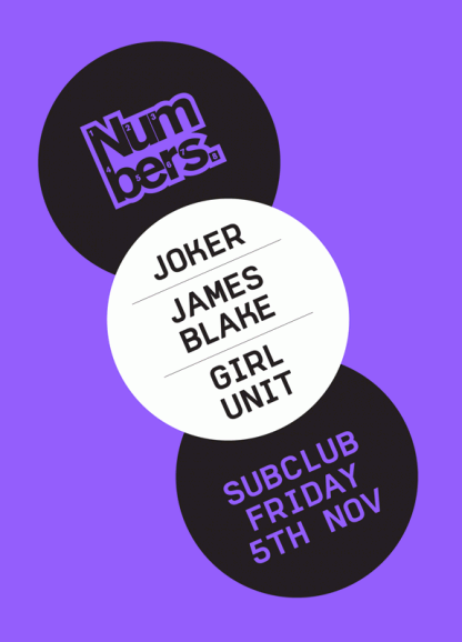 Fri 5 Nov 2010: Joker, James Blake & Girl Unit @ Sub Club, Glasgow