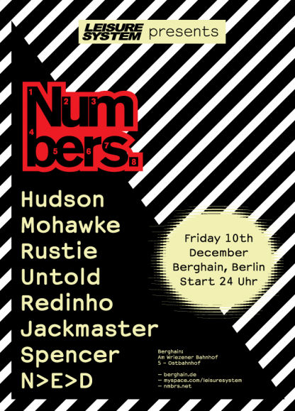 Leisure System presents Numbers at Berghain